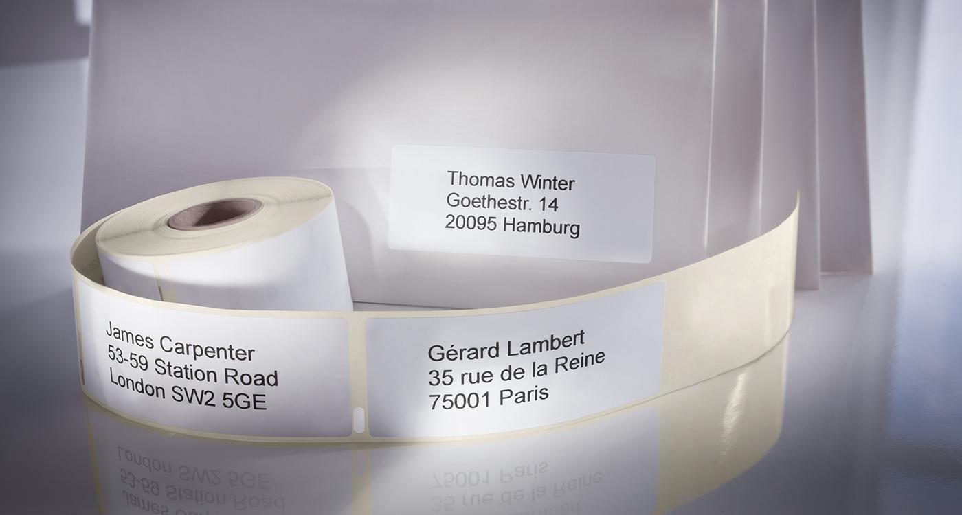 Adress- och fraktetiketter för etikettskrivare