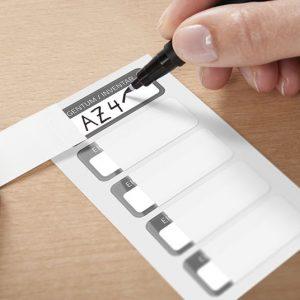 Etiketter för handskrift