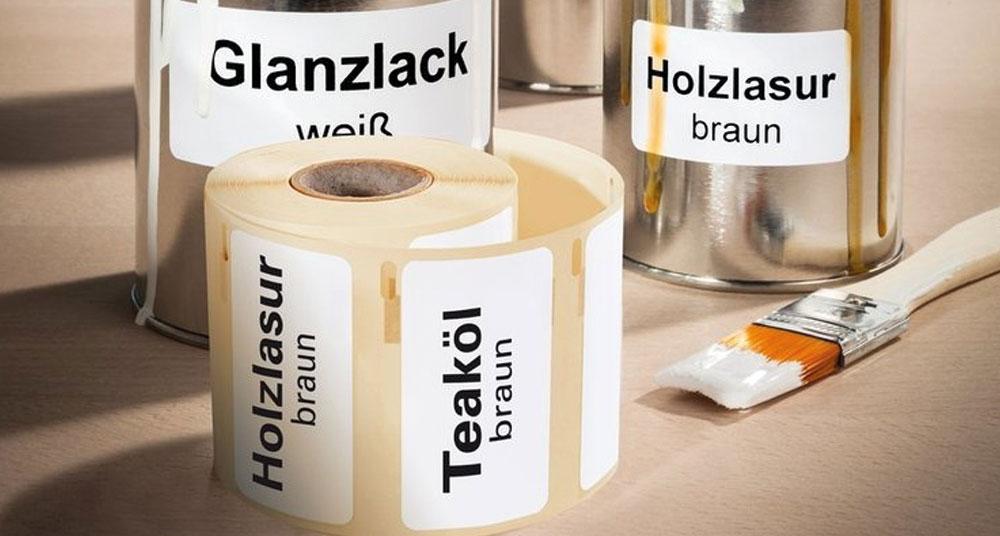 Industri- och utomhusetiketter till etikettskrivare