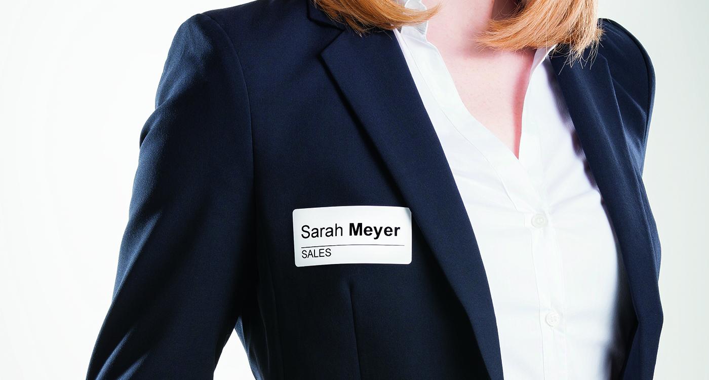 Namnetiketter för etikettskrivare