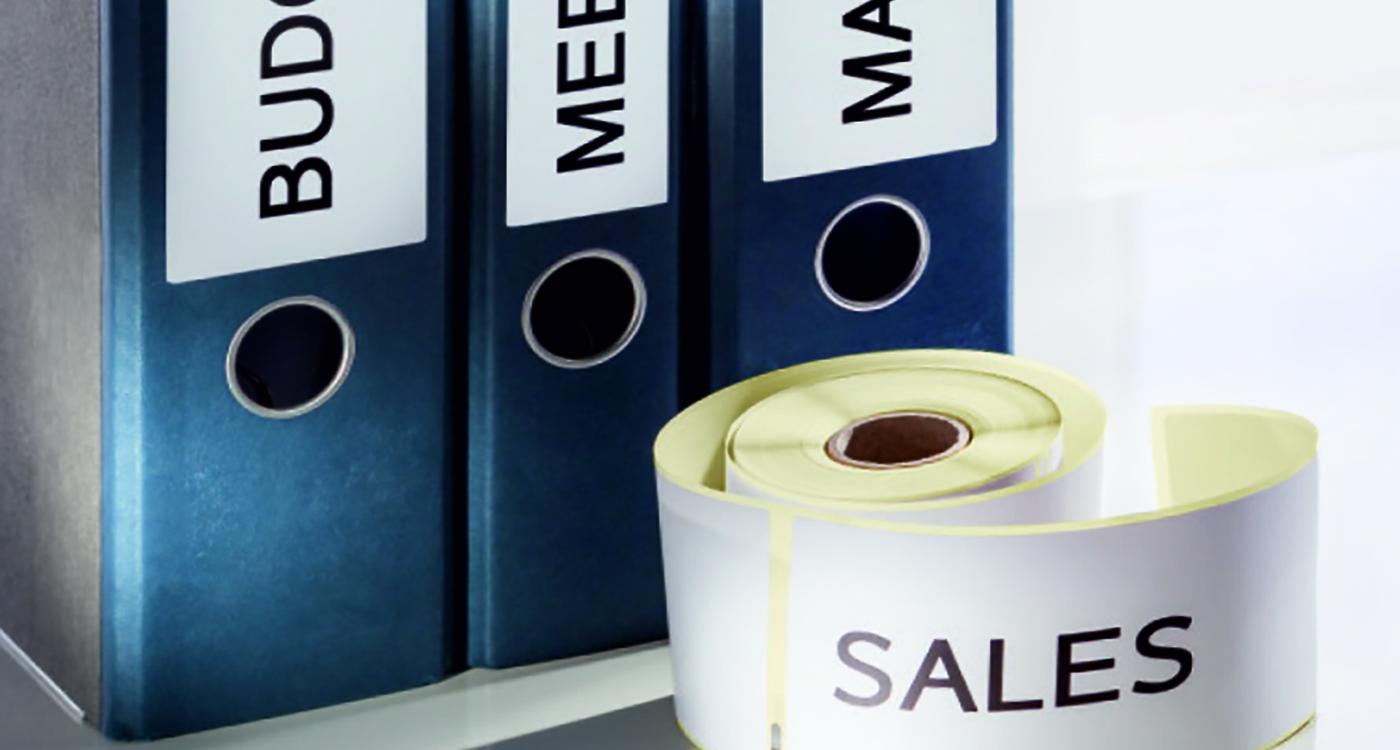 Arkiverings- och organiseringsetiketter för etikettskrivare